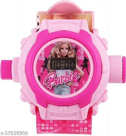 Barbie 24 Images Digital Display Projector Cartoon Display Watch for Kids