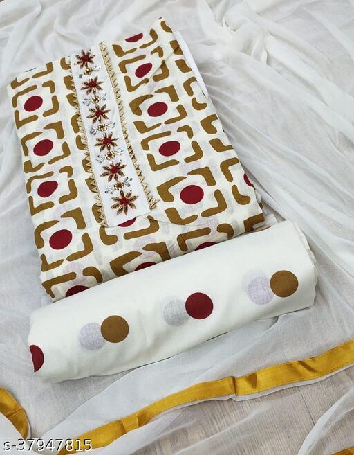 Exclusive Designer White Colour Dress Material