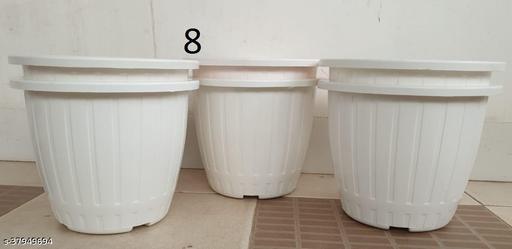 Classy round flower plastic pots