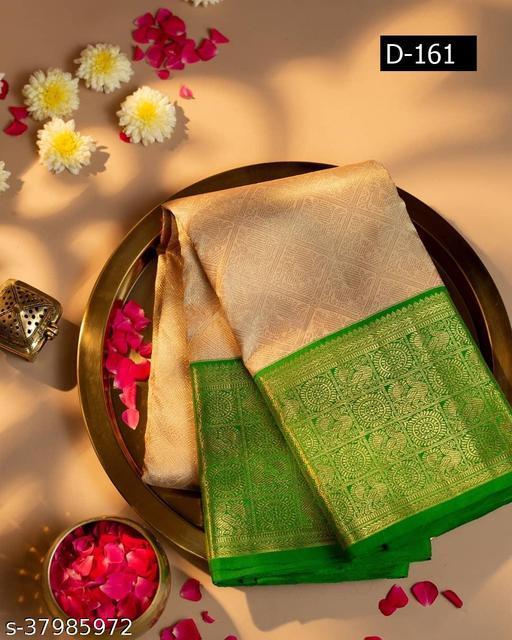 Women's Kanjivaram Silk Saree With Running Blouse