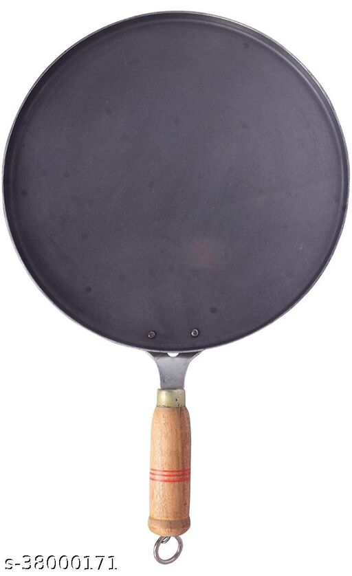 Traditional Iron Tawa for Dosa, Roti, Chapati with Wooden Handle