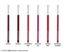 FLENGO Water Proof and Long Lasting Lip Liner Pack Of 6