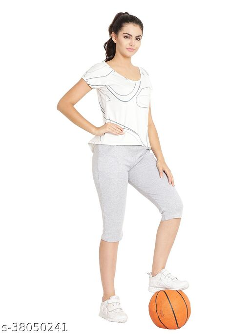 Silver Color Capri with Two Side Pockets