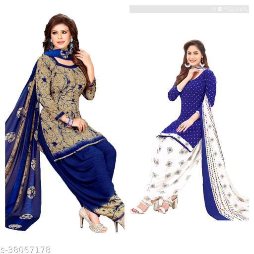 Jassy Printed Dress Material Of Women's(pack of 2)