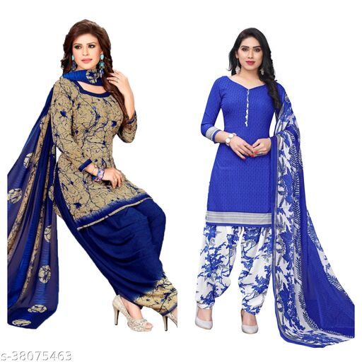 Latest Smart Printed Suits Materials (pack of 2)