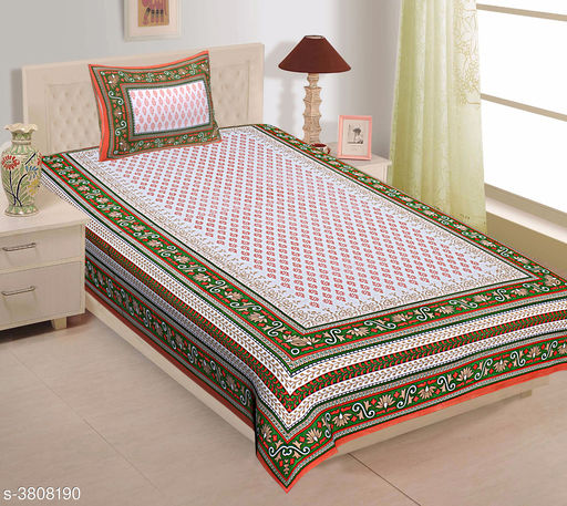 Attractive Cotton Printed Single Bedsheet