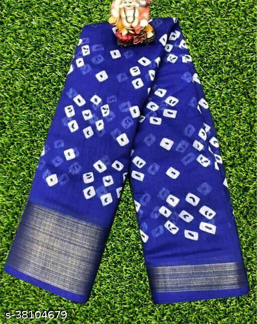 Beautiful Bandhani Design Soft Cotton Saree