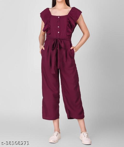 Purple Sleveeless Jumpsuit for Women
