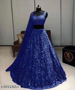 NET BLUE CHOLI  TUSHAR B10