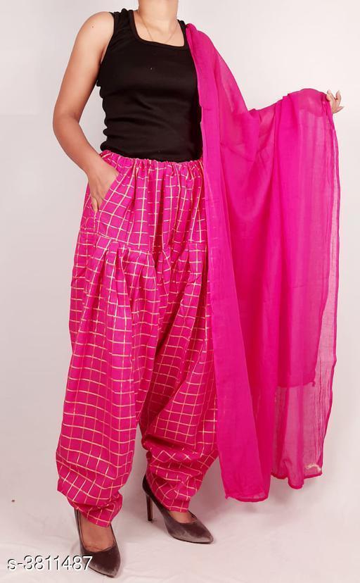 Ethnic Bottomwear - Salwars & Chudidars  Women's Cotton Salwars With Dupatta  *Fabric* Salwar -  Cotton, Dupatta - Cotton  *Size* Salwar- Up To XXXL- 38 in (Free Size), Dupatta - 2 Mtr  *Length* Salwar - Up To 40 in  *Type* Stitched  *Description* It Has 1 Piece Of Women's Salwars With 1 Piece Of Women's Dupatta  *Pattern* Salwar  *Sizes Available* Free Size *    Catalog Name: Fashionable Women's Cotton  Salwars With Dupattas Vol 3 CatalogID_534716 C74-SC1017 Code: 464-3811487-
