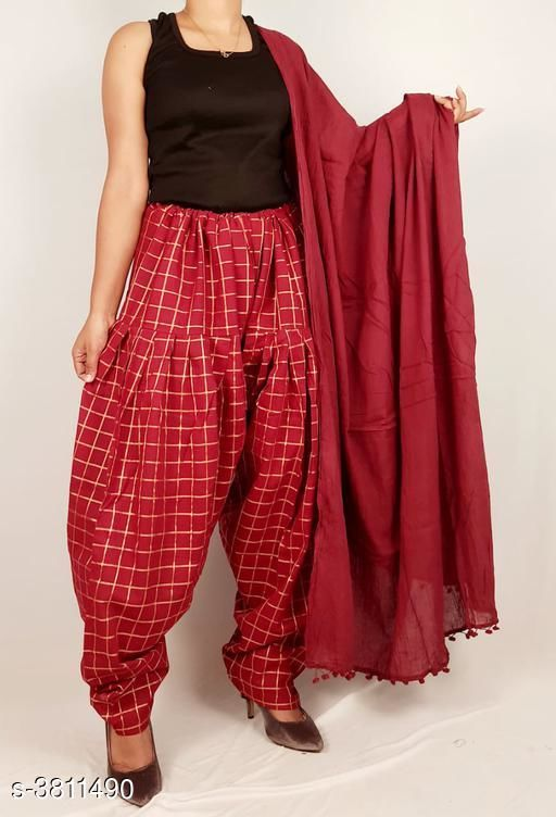 Ethnic Bottomwear - Salwars & Chudidars  Women's Cotton Salwars With Dupatta  *Fabric* Salwar -  Cotton, Dupatta - Cotton  *Size* Salwar- Up To XXXL- 38 in (Free Size), Dupatta - 2 Mtr  *Length* Salwar - Up To 40 in  *Type* Stitched  *Description* It Has 1 Piece Of Women's Salwars With 1 Piece Of Women's Dupatta  *Pattern* Salwar  *Sizes Available* Free Size *    Catalog Name: Fashionable Women's Cotton  Salwars With Dupattas Vol 3 CatalogID_534716 C74-SC1017 Code: 464-3811490-