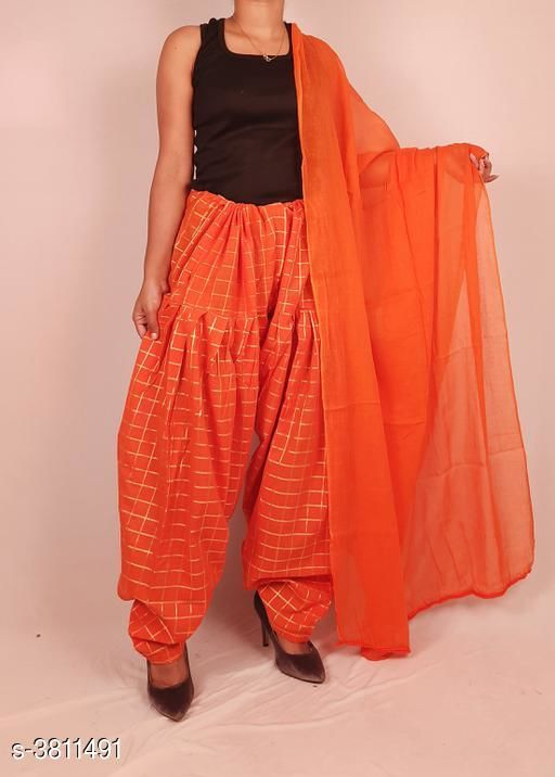 Ethnic Bottomwear - Salwars & Chudidars  Women's Cotton Salwars With Dupatta  *Fabric* Salwar -  Cotton, Dupatta - Cotton  *Size* Salwar- Up To XXXL- 38 in (Free Size), Dupatta - 2 Mtr  *Length* Salwar - Up To 40 in  *Type* Stitched  *Description* It Has 1 Piece Of Women's Salwars With 1 Piece Of Women's Dupatta  *Pattern* Salwar  *Sizes Available* Free Size *    Catalog Name: Fashionable Women's Cotton  Salwars With Dupattas Vol 3 CatalogID_534716 C74-SC1017 Code: 464-3811491-