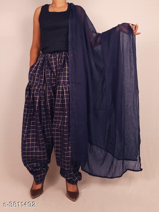 Ethnic Bottomwear - Salwars & Chudidars  Women's Cotton Salwars With Dupatta  *Fabric* Salwar -  Cotton, Dupatta - Cotton  *Size* Salwar- Up To XXXL- 38 in (Free Size), Dupatta - 2 Mtr  *Length* Salwar - Up To 40 in  *Type* Stitched  *Description* It Has 1 Piece Of Women's Salwars With 1 Piece Of Women's Dupatta  *Pattern* Salwar  *Sizes Available* Free Size *    Catalog Name: Fashionable Women's Cotton  Salwars With Dupattas Vol 3 CatalogID_534716 C74-SC1017 Code: 464-3811492-