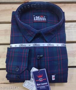 Cotton check shirt for Men, Single pocket, Full sleeves vol1