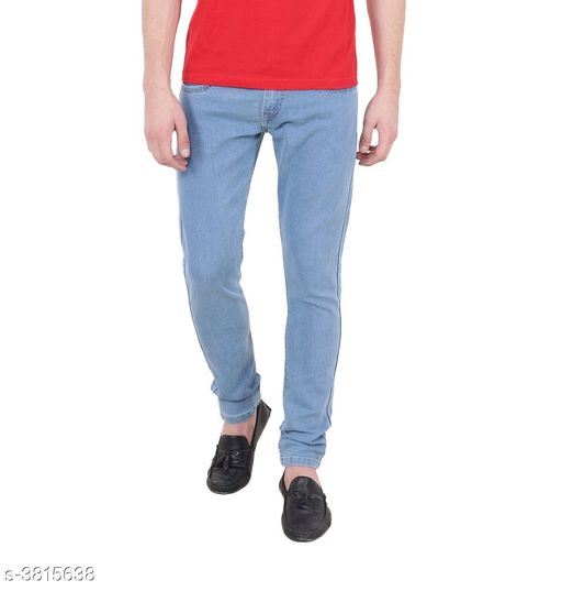 Men's Standard Solid Denim Jeans