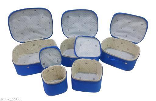 Quick Organizer Nylon Blue Makeup Storage Box Pouch for Women