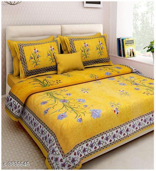 Siya Designer 100% Cotton Printed Double Bedsheets
