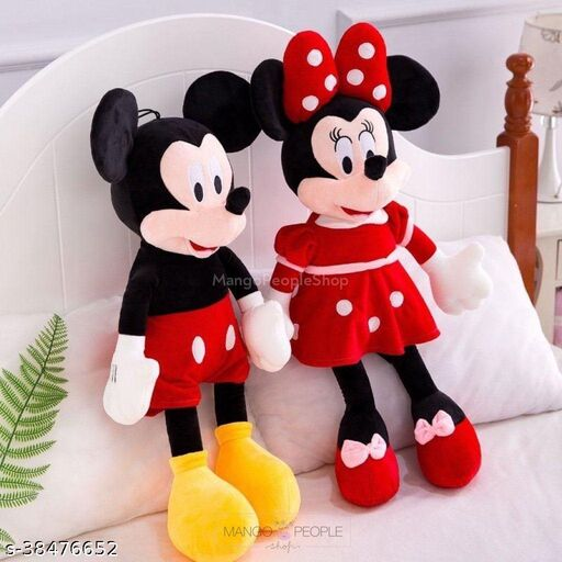 M.k Enterprises… Micky Mouse and mini mouse teady bear(Size-2feet) pack of 2 piece