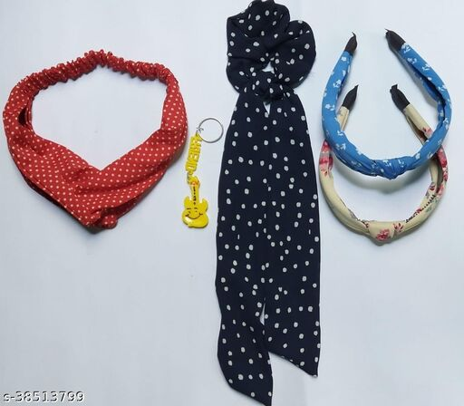 Attractive Women's   Multicolor  Scrunchies With Tail