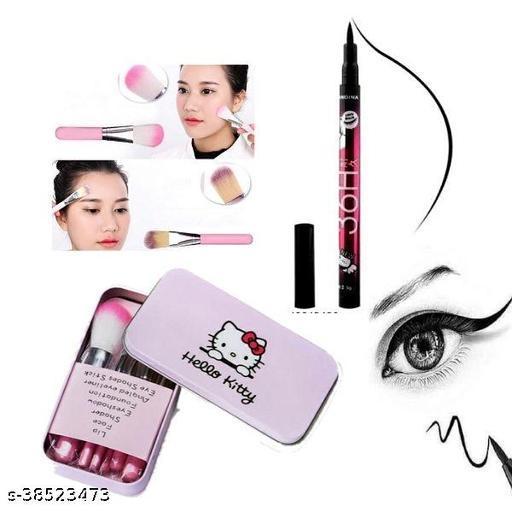 36h shills eyeliner pack of  1 +hello kitty brush set pack of 1