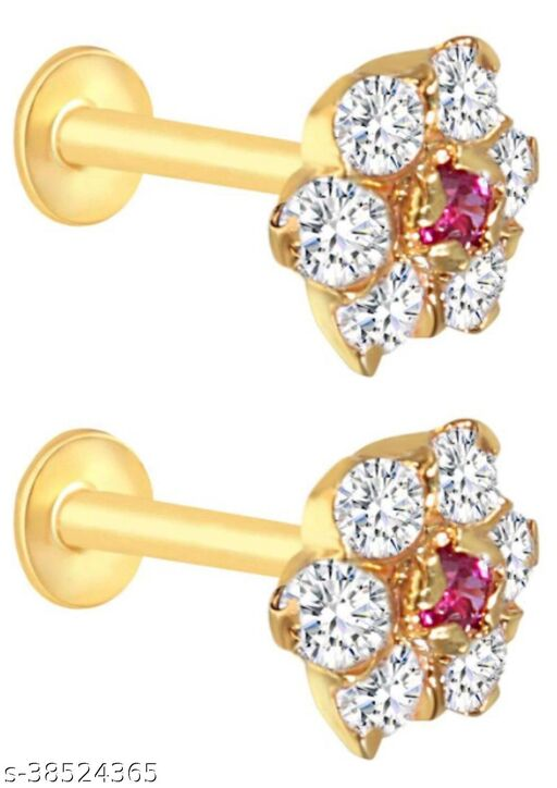Beautiful gold plated nosepin for woman and girls
