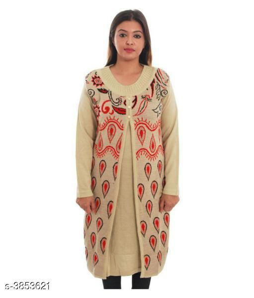 Kurtis & Kurtas Stylish Woolen Printed Women's Kurti  *Fabric* Kurti - Woolen  *Sleeves* Sleeves Are Included  *Size* Kurti -  XL - 42 in  *Length* Kurti - Up To 48 in  *Type* Stitched  *Description* It Has 1 Piece Of Women's Kurti  *Work* Kurti - Printed  *Sizes Available* XL   SKU: NLSWWKS_8 Free shipping is available for this item. Pkt. Weight Range: 300  Catalog Name: Ariya Stylish Woolen Printed Women's Kurtis Vol 14 - KARAM INDUSTRIES Code: 9601-3853621--