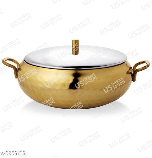 Urban Spoon Raga Belly Hammered Serving/Storage Bowl Gold 1 Pc 1500ml 18 Cm