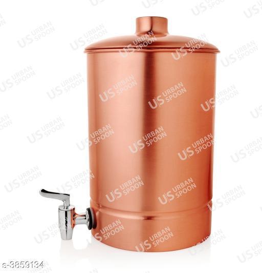 URBAN SPOON COPPER Water Dispenser/Water Pot 4200 ml 1 Pc