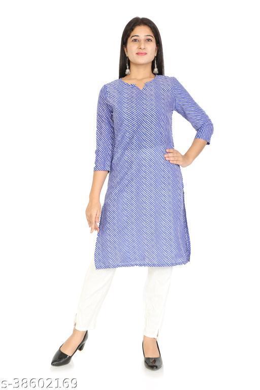 MK3A  Casual Regular Sleeves Lahriya Women  Kurta