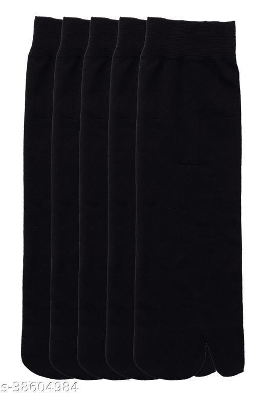 Kolor Fusion Nylon Thin Transparent Ankle Thumb Socks (Pack of 5)