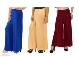 Trendy Women's Lycra Palazzo ( Pack Of 3 )