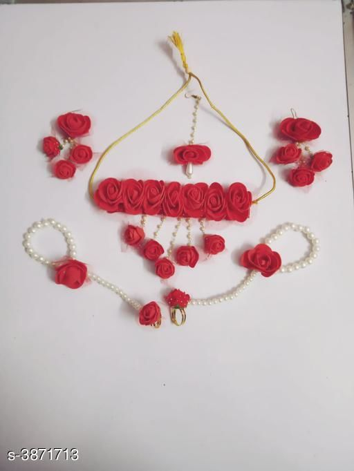 Jewellery Set Fancy Pearl Women's Jewellery Set  *Base Metal* Pearl  *Stone Type* Pearls  *Sizing* Adjustable  *Type* Necklace Earrings Maangtika Finger Ring Bracelet  *Multipack* 1  *Sizes Available* Free Size *    Catalog Name: Arya Fancy Pearl Women's Jewellery Sets Vol 14 CatalogID_544198 C77-SC1093 Code: 134-3871713-