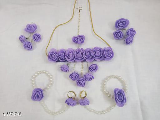 Jewellery Set Fancy Pearl Women's Jewellery Set  *Base Metal* Pearl  *Stone Type* Pearls  *Sizing* Adjustable  *Type* Necklace Earrings Maangtika Finger Ring Bracelet  *Multipack* 1  *Sizes Available* Free Size *    Catalog Name: Arya Fancy Pearl Women's Jewellery Sets Vol 14 CatalogID_544198 C77-SC1093 Code: 134-3871719-