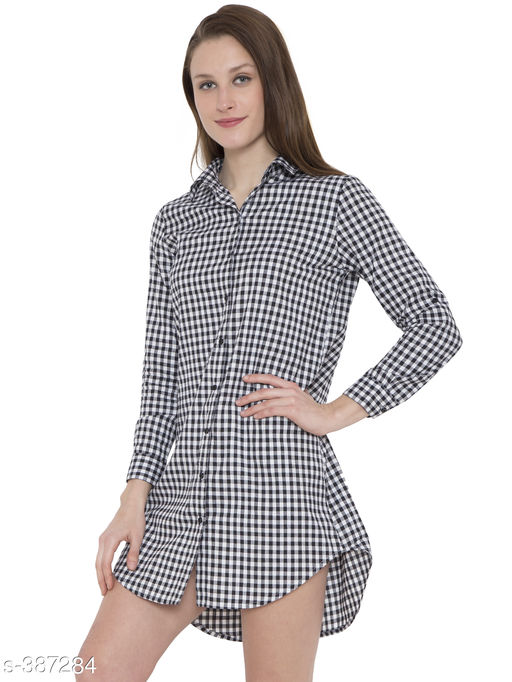 Shirts Trendy Cotton Women's Long Shirt Dress  *Fabric* Cotton 