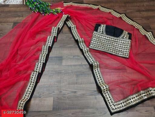 BOLLYWOOD EMBRODERED LACE SAREE WITH FULL WORK BLOUSE BY NK ENTERPRISE