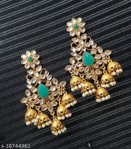 Traditional Gold Plated Kundan  Earrings