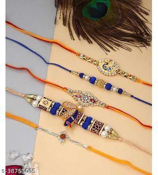 Combo of Designer Rakhis | Rakhi combo Pack 5  gift for Brother