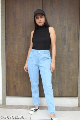 WOMEN'S STYLISH AND CHARM LOOK LOW POCKET STYLE DENIM JEANS