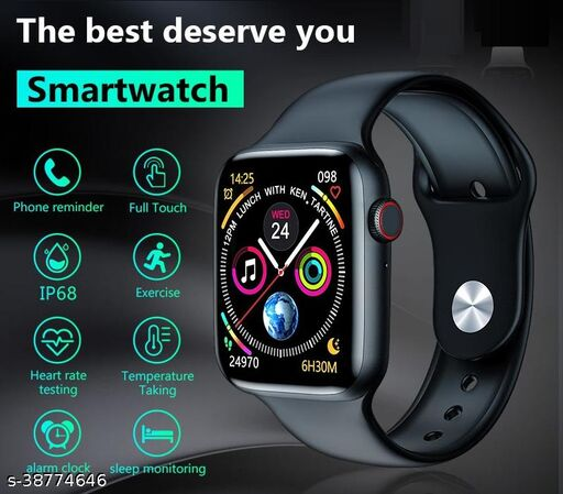 Calling Smart Watch with Full HD Infinite Touch  Screen Watch Series 6 Smart Watch Bluetooth Call Temperature Heartrate Smart Watch  (Black)