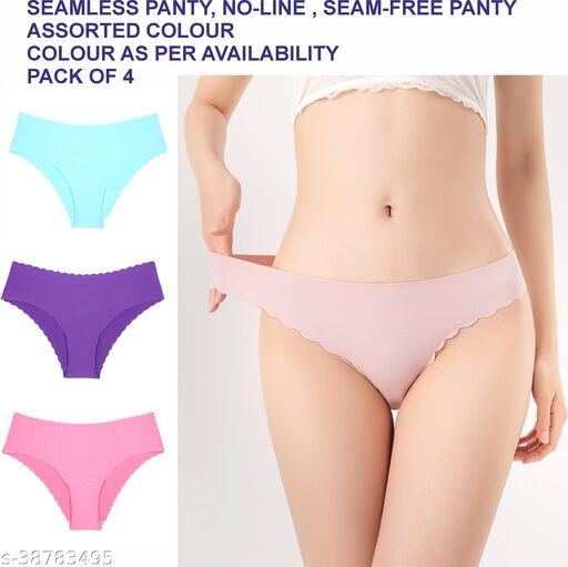 Women Hipster Cream Cotton Blend Panty (Pack of 3)