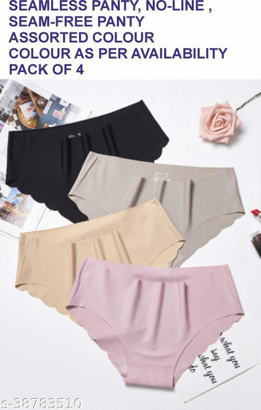 Women Boy Shorts Beige Cotton Blend Panty (Pack of 4)