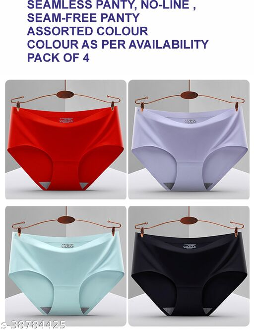 Women Hipster Cream Cotton Blend Panty (Pack of 4)