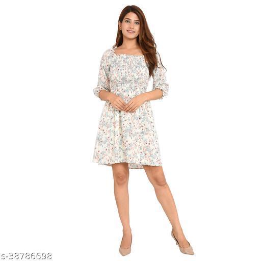 Women Easy Fit  Knee length dress