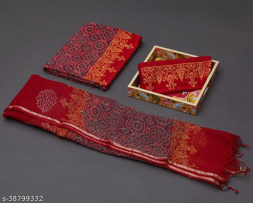 Cotton Suit Fabric with Kota Doria Dupatta