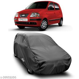 Car Cover for Santro Dust Proof - Water Resistant Car Body Cover (Grey Without Mirror)
