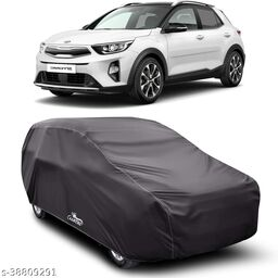 Car Cover for KIA Stonic Dust Proof - Water Resistant Car Body Cover (Grey Without Mirror)
