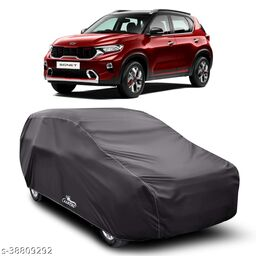 Car Cover for KIA Sonet Dust Proof - Water Resistant Car Body Cover (Grey Without Mirror)