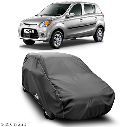Car Cover for Maruti Suzuki Alto 800 Dust Proof - Water Resistant Car Body Cover (Grey Without Mirror)