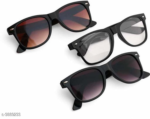 Attractive Stylish Unisex Sunglasses ( Pack of 3 )