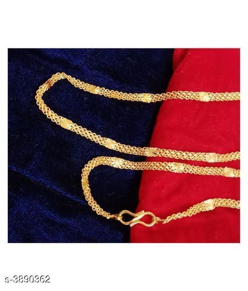 Trendy Men's Combo Golden Brass Chain